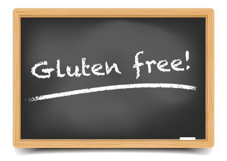 gluten: detailed illustration of a blackboard with Gluten Free text,gradient mesh included Illustration
