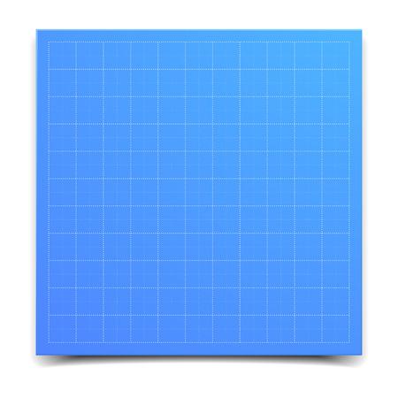grid paper: detailed illustration of a blueprint grid paper, Illustration