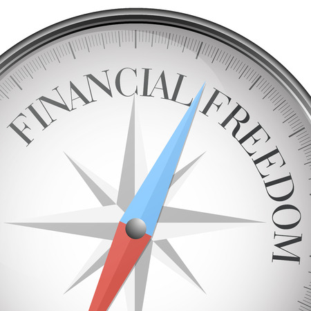 financial freedom: detailed illustration of a compass Illustration