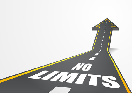 detailed illustration of a highway road going up as an arrow with no limits text, eps10 vector Vector