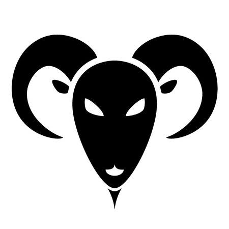 goat head: detailed illustration of stylized goat head, eps10 vector