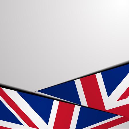 bandera de reino unido: ilustraci�n detallada de un fondo con la bandera del Reino Unido, Vectores