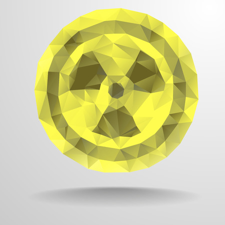 chemical weapon: detailed illustration of a polygon radiation sign,