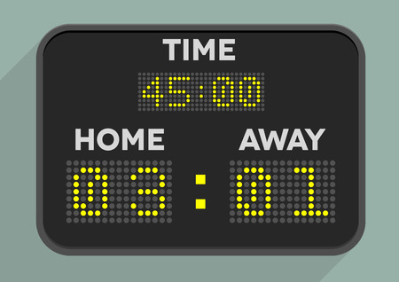 soccer game: minimalistic illustration of a sports scoreboard Illustration
