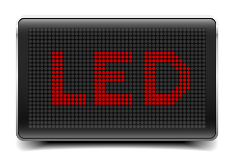 eletrical: detailed illustration of a LED Panel with LED letters, eps10 vector Illustration