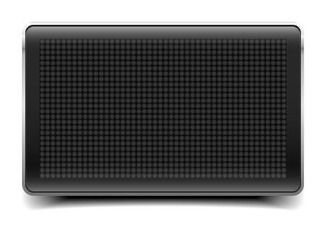gedetailleerde illustratie van een lege LED Panel