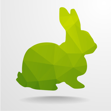 detailed illustration of polygonal rabbit, eps10 vector