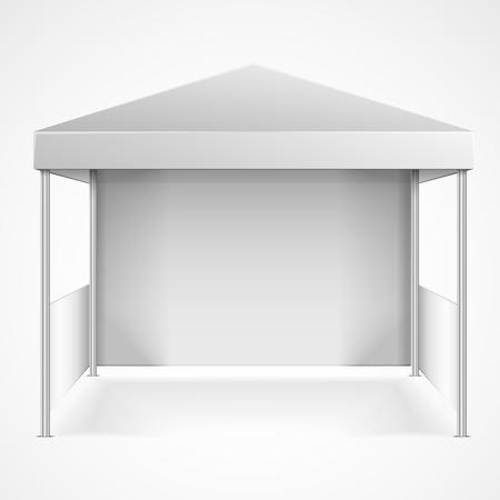空白の天蓋のテントの詳細なイラスト