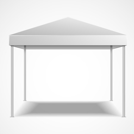 marquee tent: detailed illustration of a blank canopy tent