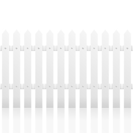 detailed illustration of a white fence with reflection, eps10 vector Vector