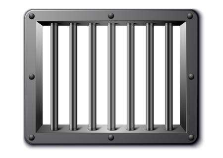 gedetailleerde illustratie van een venster gevangenis, EPS-10 vector Stock Illustratie