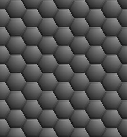detailed illustration of a seamless dark hexagon pattern Vector