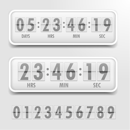detailed illustration of a bright themed countdown timer Vettoriali