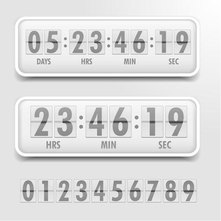 gedetailleerde illustratie van een heldere thema countdown timer Vector Illustratie