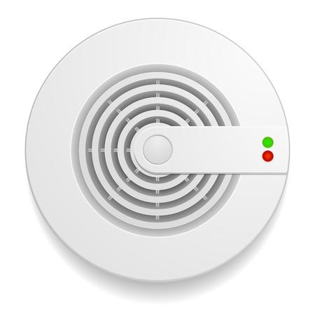 humo: ilustraci�n detallada de un detector de humo Vectores