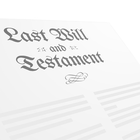 testament: detailed illustration of a Last Will and Testament letter, eps10 vector Illustration