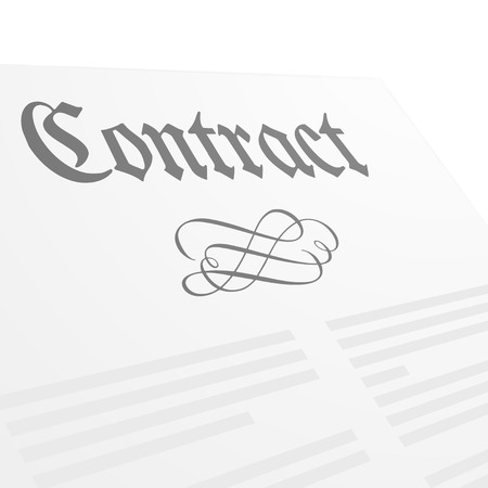 letter head: detailed illustration of a contract letter head,  vector