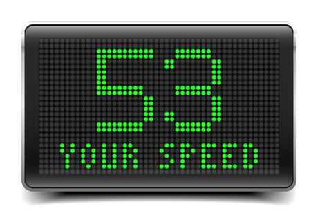 eletrical: detailed illustration of a speed limit LED Panel, eps10 vector Illustration