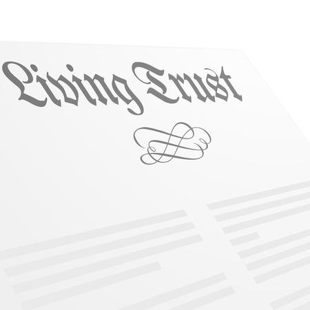 gedetailleerde illustratie van een Living Trust brief hoofd