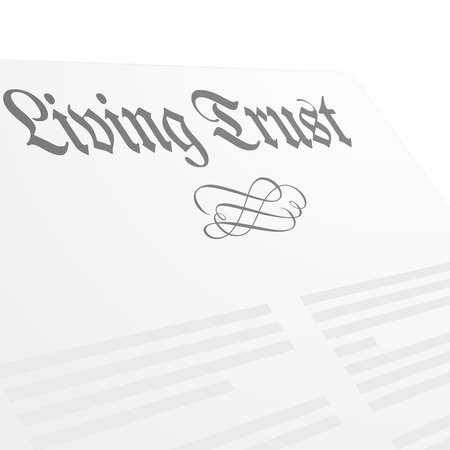 detailed illustration of a Living Trust letter head Stock Illustratie
