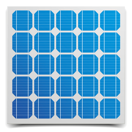 solar battery: detailed illustration of a solar cell panel, eps10 vector