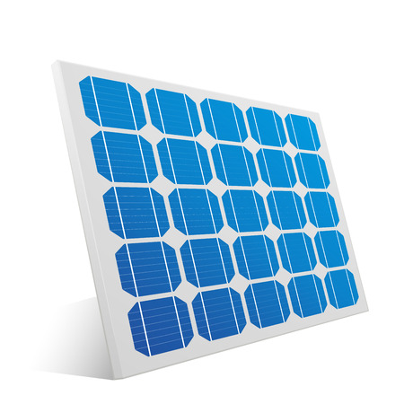 solar collector: detailed illustration of a solar cell panel, eps10 vector