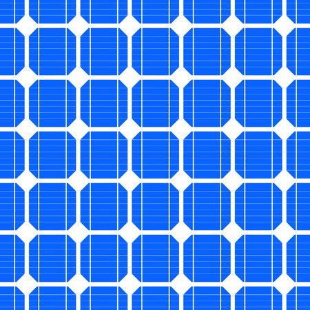 solar collector: detailed illustration of a seamless photovoltaik solar cell pattern, eps10 vector