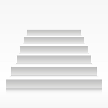 staircase: detailed illustration of white stairs, eps10 vector
