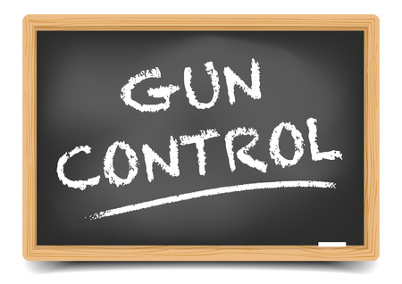 gun control: detailed illustration of a blackboard with Gun Control text, eps10 vector, gradient mesh included