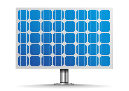solar cells: detailed illustration of a solar cell panel, eps10 vector