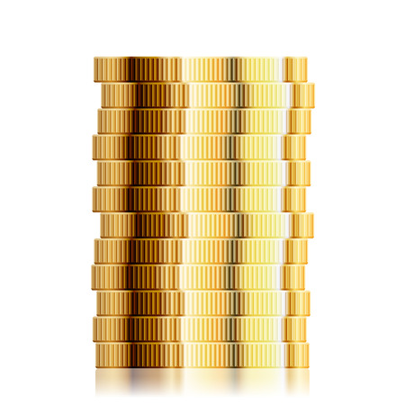 euro coin: detailed illustration of a coin stack, eps10 vector Illustration