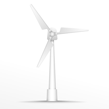 windpower: detailed illustration of a Wind Generator, eps10 vector