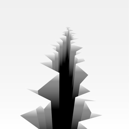cleft: detailed illustration of a cracked ground, eps10 vector Illustration
