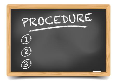 prioridades: ilustraci�n detallada de una pizarra con una lista procedimiento vac�a, vector eps10, el gradiente de malla incluido