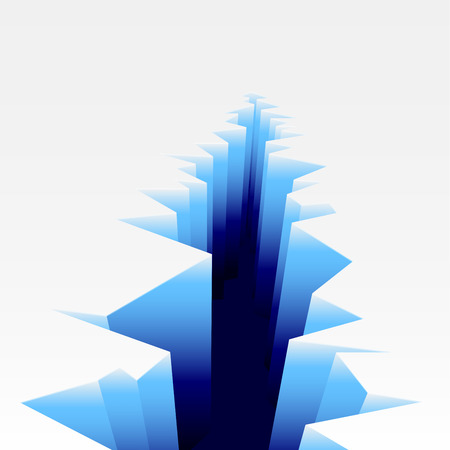 cleft: detailed illustration of an Ice Crack, eps10 vector