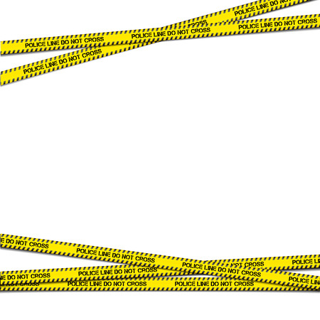 trespass: detailed illustration of crossing police tapes with blank copy space, vector