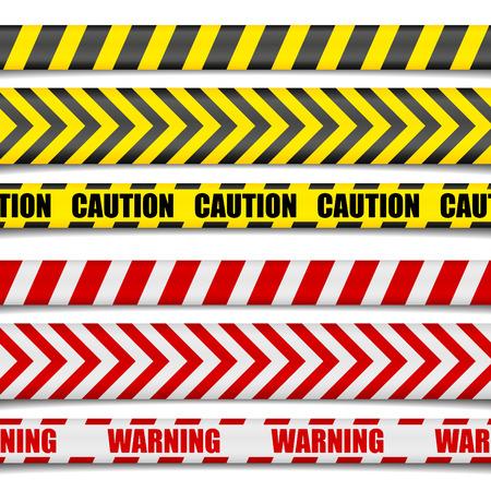 Ilustración detallada de Precaución líneas, vector Foto de archivo - 42286869