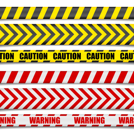 advertencia: ilustración detallada de Precaución líneas, vector Vectores