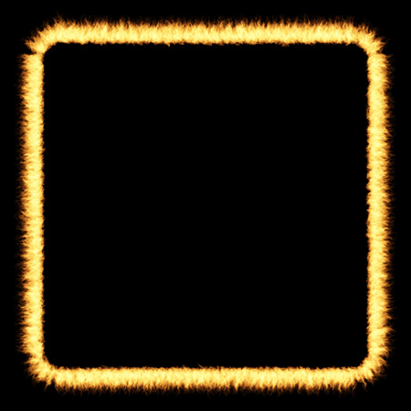 flamboyant: fire frame over a dark background