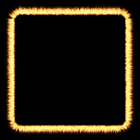 fire frame over a dark background