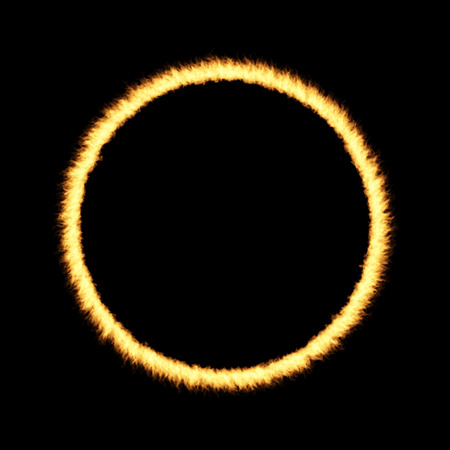ring of fire: Ring of Fire over a dark background Stock Photo