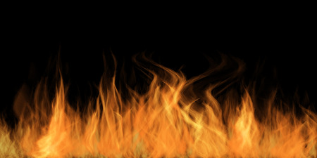 flames background: Fire Flames on a dark background