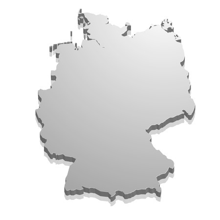 state boundary: detailed illustration of a map of Germany, eps10 vector