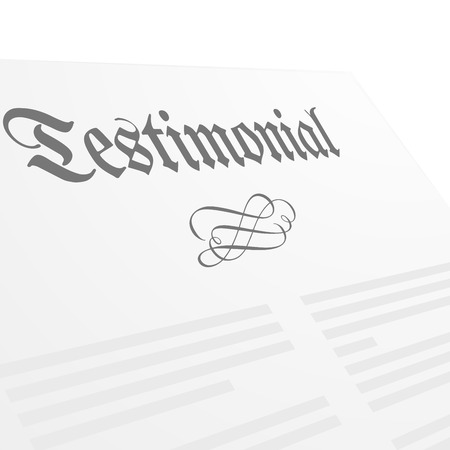 signing papers: detailed illustration of a Testament letter head, eps10 vector