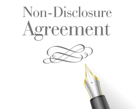 infringement: illustration of a Non-Disclosure Agreement Letter with fountain pen