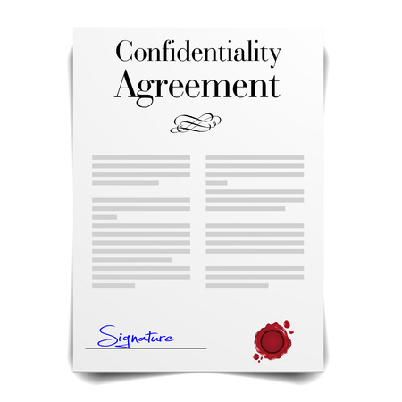 the settlement: detailed illustration of a Confidentiality Agreement Letter, eps10 vector