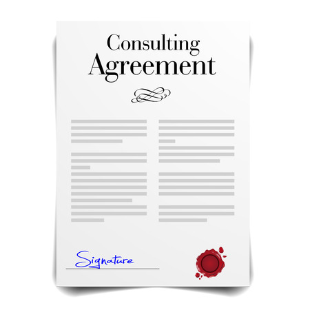 detailed illustration of a Consulting Agreement Letter, eps10 vector Illustration