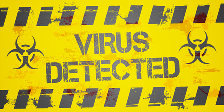 detected: detailed illustration of a grungy Virus Detected background, eps10 vector