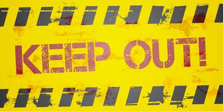 gedetailleerde illustratie van een grungy Keep Out achtergrond, eps10 vector