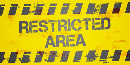 restricted area: detailed illustration of a grungy Restricted Area background, eps10 vector